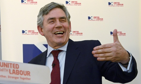 Gordon Brown is the figurehead for Scottish Labour's official campaign against independence, but has gone off message by supporting a television debate between Alex Salmond and David Cameron