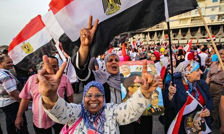 Women celebrating the election of Abdel Fatah al-Sisi as Egypt's new ...