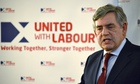 Gordon Brown at Scottish Labour party referendum campaign launch in June 2014