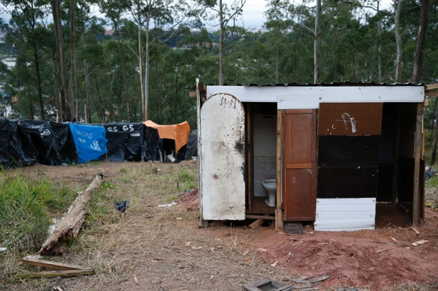 The basic facilities typical of the conditions in the camp