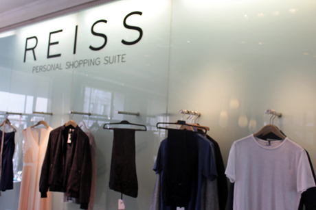 Reiss personal shopping suite