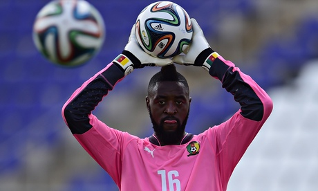 Cameroon's goalkeeper Charles Itandje at
