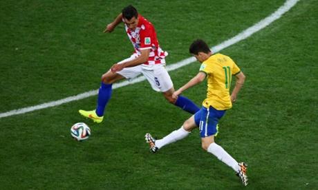 gol oscar brazil 3-1 croatia