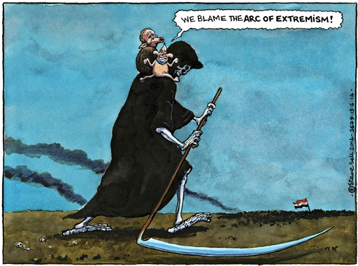 Steve Bell on Bush and Blair's legacy in the Middle East