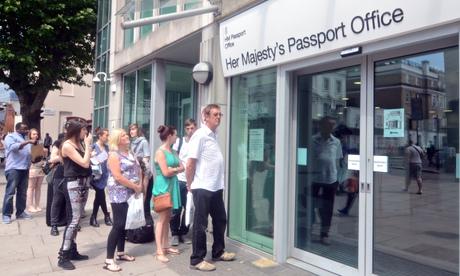 Passport office queues
