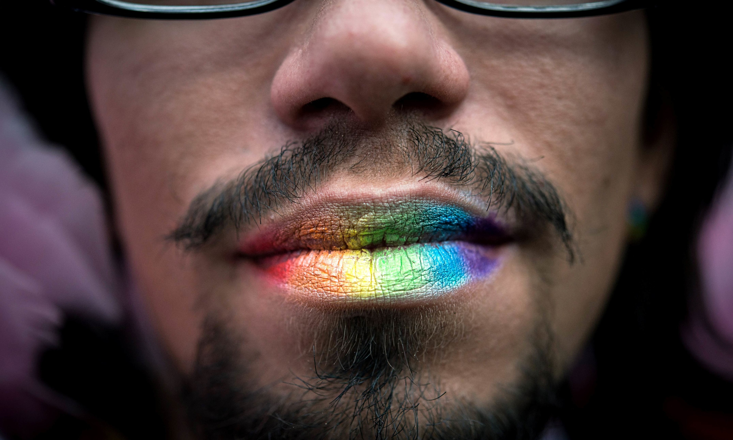 Kenyon Martin Lips Tattoo Rainbow-coloured lips at