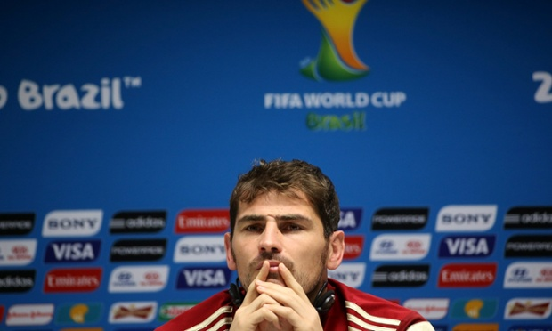 Spain's Iker Casillas attends a press conference on June 12, 2014 in Salvador, Brazil.