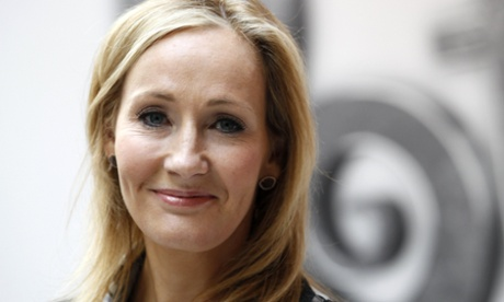 Writer JK Rowling, author of the Harry Potter series