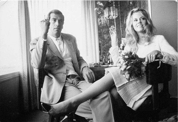 Dennis Hopper Shots: Dennis Hopper Photography Jane Fonda and Roger Vadim at Their Wedding 1964