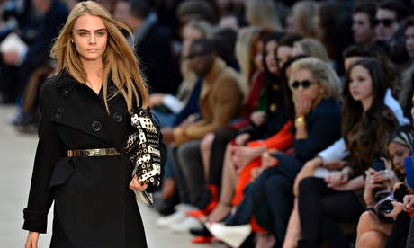 Cara Delevingne for Burberry Prorsum