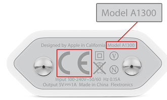 Apple southern European-style USB adapter