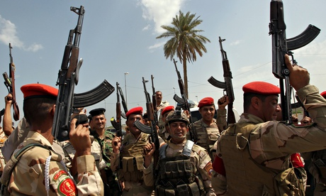 Iraqi army troops