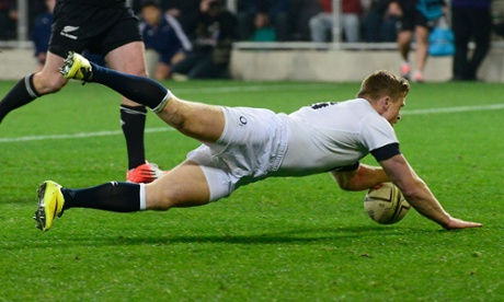 England's Chris Ashton scores the last try.