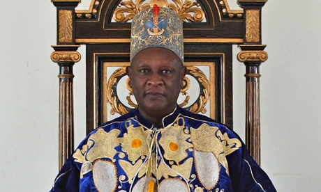 King Solomon Iguru of Bunyoro in Uganda at his palace in Hoima