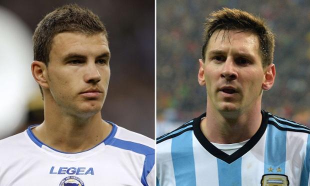 Leo Messi and Edin Dzeko. The best player in the world and the best bad player in the world.