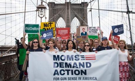 Gun control rally, Brooklyn Bridge