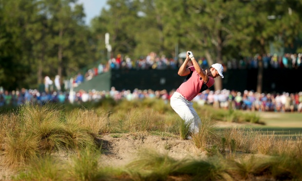The two stars of Pinehurst No2: Martin Kaymer, and the troublesome scrubland
