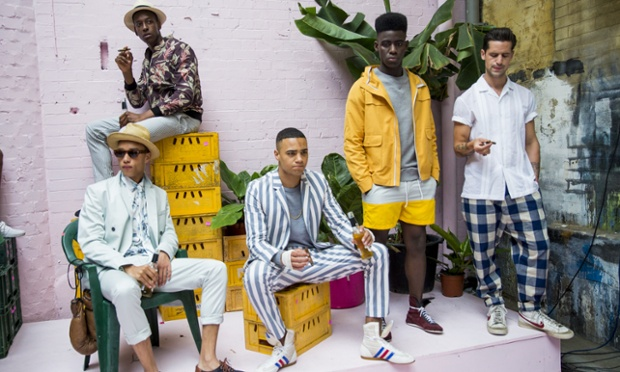 Models pose on the runway during the Hentsch Man presentation at the London Collections: Men SS15 on June 15, 2014 in London, England.  (Photo by Tristan Fewings/Getty Images) Catwalk Celebrities Fashion Spring Summer Spring Summer Collection