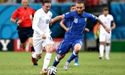 Wayne Rooney is tracked by Daniele De Rossi on Saturday in Italy's 2-1 win in World Cup Group D.