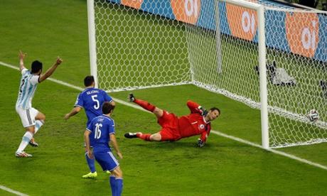 Bosnia's Sead Kolasinac scores an own goal.