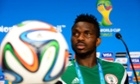 Nigeria's captain Joseph Yobo during a news conference in Brazil.