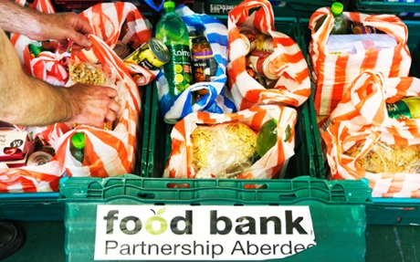 A food bank in Aberdeen.