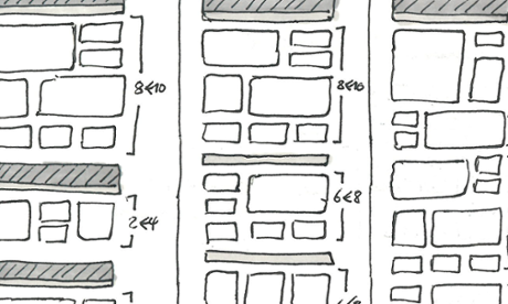 Early app layout sketch.
