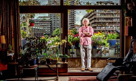 William Howard with his Barbican garden