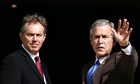 Tony Blair with George W Bush: would a separation of legislature and executive have prevented Blair