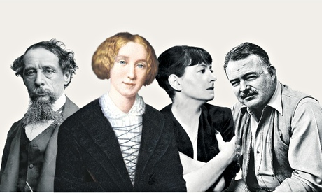 Authors Dickens, Eliot, Parker and Hemingway