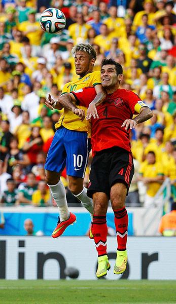 Brazils-Neymar-fights-for-014 - WORLD CUP 2014 - World Cup Football   Fifa Soccer