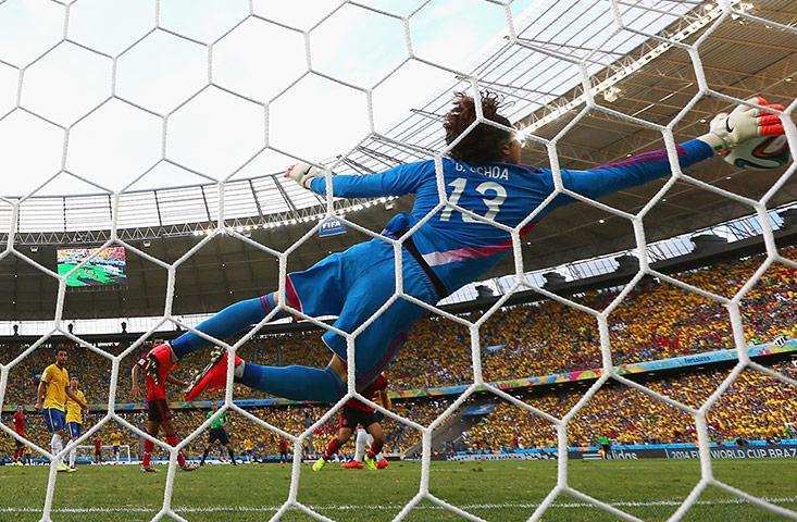 Guillermo-Ochoa-saves-015 - WORLD CUP 2014 - World Cup Football   Fifa Soccer