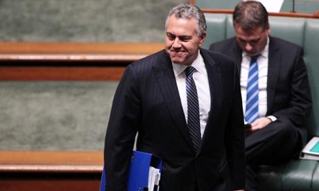 Treasurer Joe Hockey at Question time.