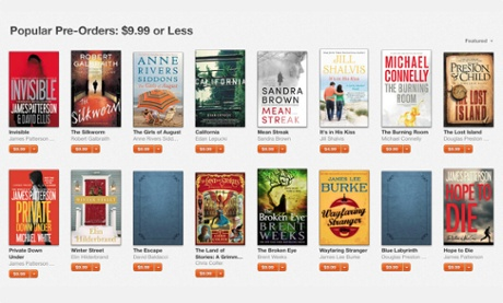 Hachette pre-orders on Apple's iBooks store