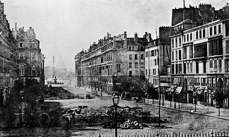 Barricades on Royal Street, Paris, during the 1848 revolution