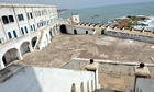 Cape Coast Castle, a fortress used to confine slaves in Ghana before they were shipped abroad