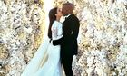 Kim and Kanye's wedding photograph
