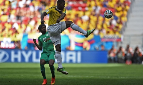 Colombia have made the brighter start. Here, Cristian Zapata clears the ball from Ivory Coast forward Gervinho.
