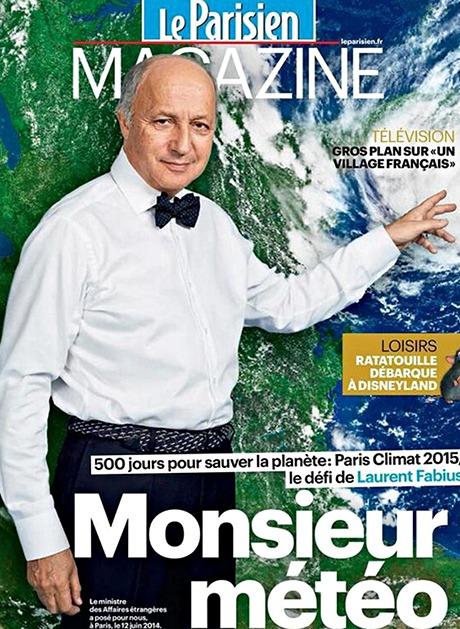 Laurent Fabius in Le Parisien Magazine