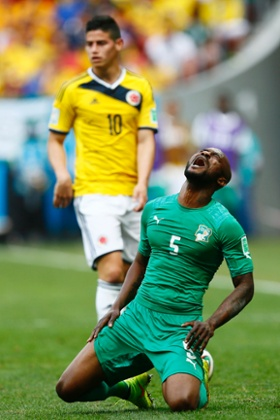 Ivory Coast's Didier Zokora misses the next game after picking up a booking.