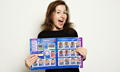 Hadley Freeman with her World Cup sticker album