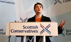Scottish Conservative leader Ruth Davidson unveiling the findings of the Strathclyde commission