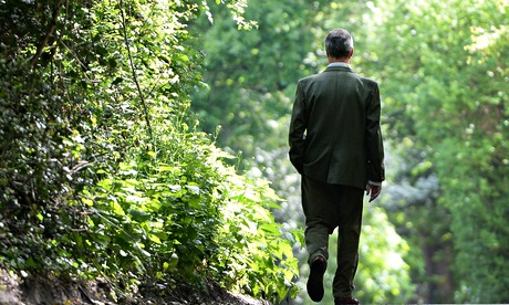 Nigel Farage walks home