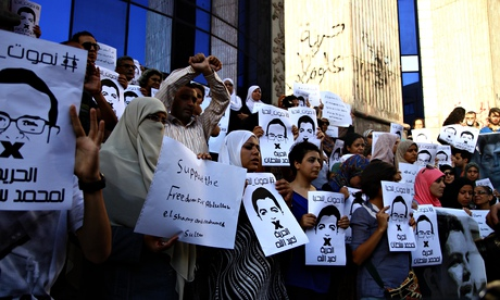 Egyptian journalists protest in support of their imprisoned colleagues