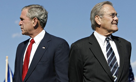 George Bush and Donald Rumsfeld