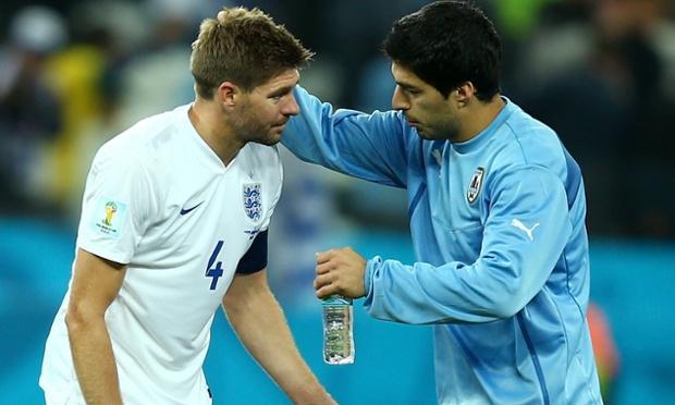 Luis Suárez and Steven Gerrard