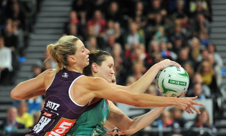Queensland Firebirds and Melbourne Vixens netball