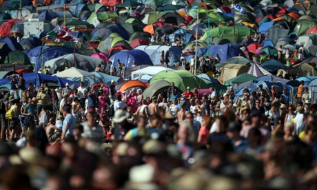 The Glastonbury Festival at Worthy Farm, which started in 1970, is now one of the largest music festivals in the world.
