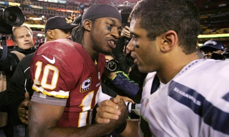Seattle Seahawks' Russell Wilson and Washington Redskins' Robert Griffin III