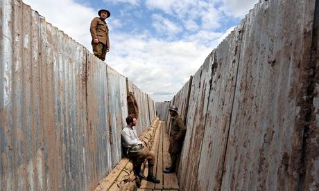 Mametz actors patrol trench National Theatre Wales